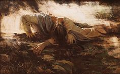 Walter Rane's depiction of Christ in Gethsemane. Words cannot express.
