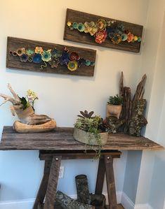 Wall ceramic decor Hand Built Pottery, Slab Pottery, Ceramic Pottery, Pottery Art, Clay Wall Art, Ceramic Wall Art, Ceramic Decor, Ceramic Poppies, Ceramic Flowers