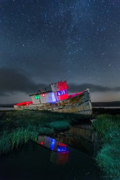 Point Reyes Boat Glowing