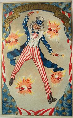 Vintage 4th of July Postcard by riptheskull, via Flickr