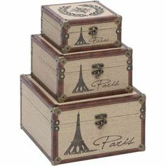 3-Piece Eiffel Tower Trunk Set - $59.95 at Joss and Main (down from 115.50) Love them