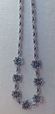Seed bead and duo bead necklace