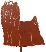 """Haute Steel Yorkshire Terrier Metal Dog Stake by Haute Steel. $42.00. MATERIAL: 16 Gauge Steel. FINISH: Rust colored Powdercoat. Detachable 30"""" Steel Pole. Handcrafted in USA. SIZE: 11"""" X 11"""". Yorkshire Terrier Steel Garden Stake - Our Haute Dog Garden Stakes are truly a symbol of the bond that exists between man and animal. They reflect the joy and comfort that we receive from and give to our pets. They are sure to win a place in your heart, just as your pet has. Now ava..."""