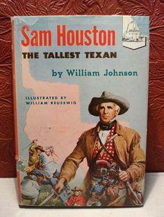 Vtg Landmark Book Sam Houston The Tallest Texan 1953 William Johnson 1st Edition