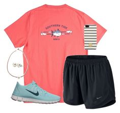 Nike Shoes OFF! ►► A fashion look from April 2014 featuring Southern Tide t-shirts NIKE and NIKE shoes. Browse and shop related looks. White Girl Outfits, Cute Lazy Outfits, Teen Fashion Outfits, Sporty Outfits, Athletic Outfits, Simple Outfits, Outfits For Teens, School Outfits, Teenager Outfits