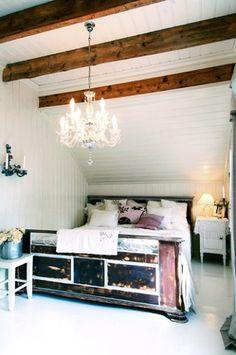 ceiling, chandelier, head board
