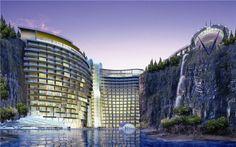 Shimao Quarry Hotel, China - opening 2015