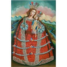 NOVICA Oil on Canvas Painting ($161) ❤ liked on Polyvore featuring home, home decor, wall art, colonial replica, paintings, spanish paintings, novica, crown wall art, portrait oil painting and canvas wall art