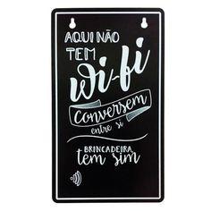 Placa Senha do Wi-fi  | Fábrica9