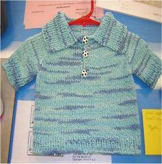 Ravelry: Baby Golf Polo Raglan pattern by Heidi Sunday
