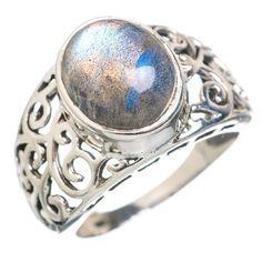 Labradorite 925 Sterling Silver Ring Size 8 RING769533