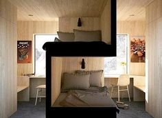 Bunk beds design and room ideas. Most amazing bunk beds for kids. Designing bunk beds that you might like. Sibling Bedroom, Siblings Sharing Bedroom, Bedroom For Twins, Bedroom Ideas For Teen Boys, Boys Bunk Bed Room Ideas, Twin Room, Student Room, Bunk Bed Designs, Small Spaces