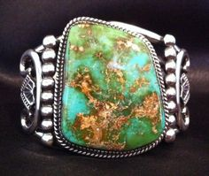 Navajo Royston Turquoise Men's Bracelet, SIGNED Herman Vandever, Sterling Silver in Jewelry & Watches, Ethnic, Regional & Tribal, Native American | eBay