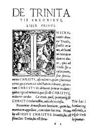 En esta obra, dividida en siete libros o capítulos, Servet argumenta que el dogma de la Trinidad carece de base bíblica, ya que no se halla en las escrituras
