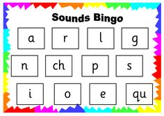 Phonics Read Write Inc Set 1 to 3 - Sound Bingo Boards Jolly Phonics Activities, Educational Activities For Preschoolers, Learning Games For Kids, Phonics Games, Phonics Reading, Phonics Worksheets, Guided Reading, Teaching Reading, Eyfs Activities