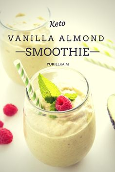 Most smoothies are made with high-sugar fruits and sweetened yogurt, which makes it difficult to find a good smoothie recipe when you are on the keto diet! These 16 smoothie recipes are all low-carb and contain a good amount of fat to keep you in ketosis! High Protein Snacks, Keto Protein Shakes, Keto Shakes, Protein Shake Recipes, Keto Breakfast Smoothie, Keto Smoothie Recipes, Low Carb Smoothies, Easy Smoothies, Ketogenic Recipes