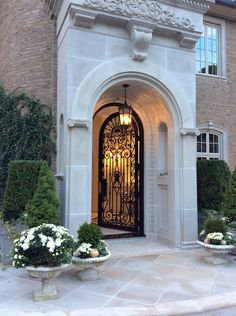 The Enchanted Home - Rediscover Your Home Door Design, Exterior Design, Enchanted Home, Foyer Decorating, House Entrance, Iron Doors, Facade House, Classic House, House Front