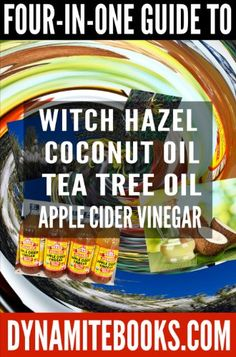 This is an excellent book for learning the basics of 4 Top natural ingredients. It explains how it works and give recipes. Witch Hazel, Tea Tree Oil, Coconut Oil, and Apple Cider Vinegar