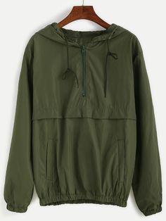 Army Green Hooded Zipper Sweatshirt Mobile Site