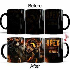 APEX Apex legends Mirage Changing Mug Heat Sensitive Magic Cup With Box