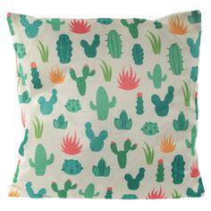 Cushion with Insert - Cactus 43 x 43cm