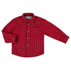 Mayoral Plaid Shirt - Red