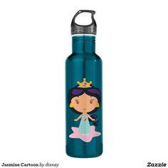 Jasmine Cartoon Water Bottle #bottle #botella