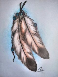 Learn to draw them! Learn to draw them! Native American Feather Tattoo, Indian Feather Tattoos, Indian Feathers, Native American Artwork, American Indian Art, Feather Drawing, Feather Tattoo Design, Feather Painting, Feather Art