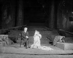 Max Reinhardt, director-producer & Lili Darvas as Titania. Max Reinhardt, Theater, Scenography Theatre, Midsummer Nights Dream, Photographic Studio, New York Public Library, Musical Theatre, The Conjuring, Teatro