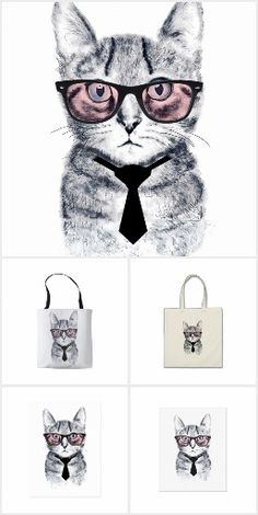 Panka's Smart Cat design collection on items