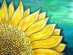 Sunflower - Tallahassee Painting Class - Painting with a Twist - Painting with a Twist