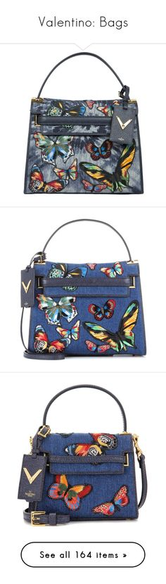 """Valentino: Bags"" by livnd ❤ liked on Polyvore featuring valentino, bags, livndbags, livndvalentino, handbags, shoulder bags, azzurro, denim shoulder bag, embroidered purse and tie dye shoulder bag"
