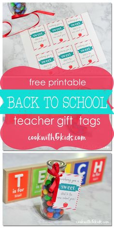 Back to school free Printable Teacher Gift Tags #ad #BTSwithHP Full story and printable at http://www.cookwith5kids.com/2016/08/HP/