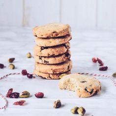 Cranberry, Orange & Pistachio Cookies