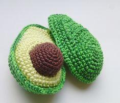 1 piece – crochet avocado ,Crochet kitchen decor – Crochet t… – Educational Toy Ideas Crochet Apple, Crochet Fruit, Crochet Food, Crochet Kitchen, Baby Toys, Kids Toys, Tante Emma Laden, Toy Kitchen, Kitchen Decor