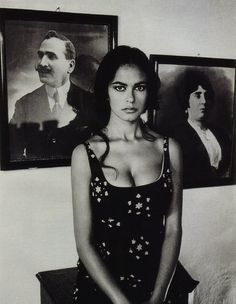 """Model and actress Maria Grazia Cucinotta, Sicily"" 1991, photo by Italian  photographer FERDINANDO SCIANNA"