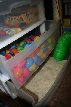 Plastic Easter eggs is a good idea for my ferrets to play in