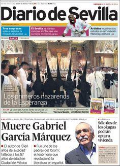 Muere Gabriel García Márquez.