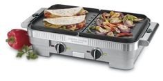Grill your Donut Sandwiches Perfectly with a Cuisinart GR-55 Griddler Stainless Steel Nonstick Grill/Griddle Combo