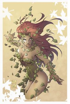 Poison Ivy - line art: Michael Turner, color:  DEADNEMO.deviantart.com