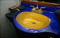 This is one of the gold-plated sinks on the Lisa Marie.