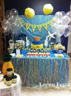 Festa Bob Esponja - Ver toalha de mesa
