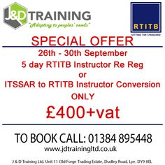 Forklift Instructor Course Dates from J & D Training Ltd http://ift.tt/1HvuLik #training #jobsearch #jobs #safety