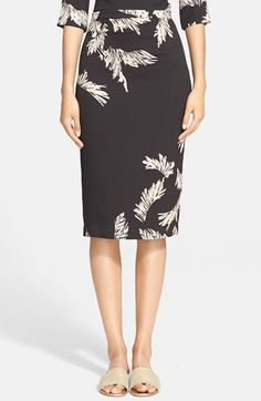 Tracy Reese Floral Print Stretch Crepe Pencil Skirt available at #Nordstrom