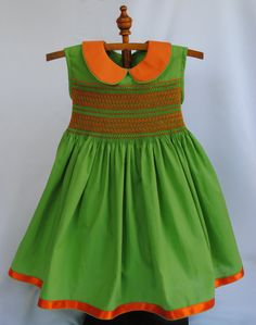 Hand smocked girls dress  Size 2 by myheavenlydesigns on Etsy, $90.00