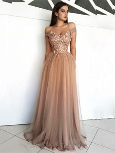 Evening Dress Long Appliques Beading Sexy Bride Banquet Elegant Floor-length Party Prom Dress Robe De Soiree Thank you the dress is perfect. Floral Prom Dresses, Tulle Prom Dress, Prom Party Dresses, Elegant Dresses, Homecoming Dresses, Sexy Dresses, Tulle Lace, Long Dresses, Dresses Uk