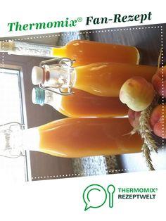 Pfirsichlikör  mit frischen Pfirsichen  von 2010 SKihase. Ein Thermomix ® Rezept aus der Kategorie Getränke auf www.rezeptwelt.de, der Thermomix ® Community. Easy Alcoholic Drinks, Wine Drinks, Cocktail Drinks, Cocktails, Schnapps, Kitchen Aid Mixer, Can Opener, Nom Nom, Food And Drink