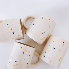 Super fun sprinkle mugs handmade in Los Angeles