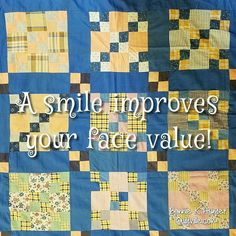 This girl is smiling because I am home! My feet will be on the ground until early February as my next trip is a driving one down to Hilton Head and I'm really looking forward to that. I love this vintage 4 patch nine patch quilt shared during our workshops in Prescott this past week. Simple blocks make me happy! . . #quilt #quilting #patchwork #quiltville #bonniekhunter #vintagequilt #antiquequilt #deepthoughts #wisewords #wordsofwisdom #quiltvillequote #quote #inspiration