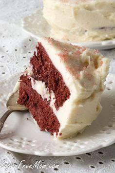Sugar-Free Red Velvet Couple's Mug Cake